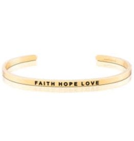 MantraBand MantraBand Bracelet, Faith Hope Love