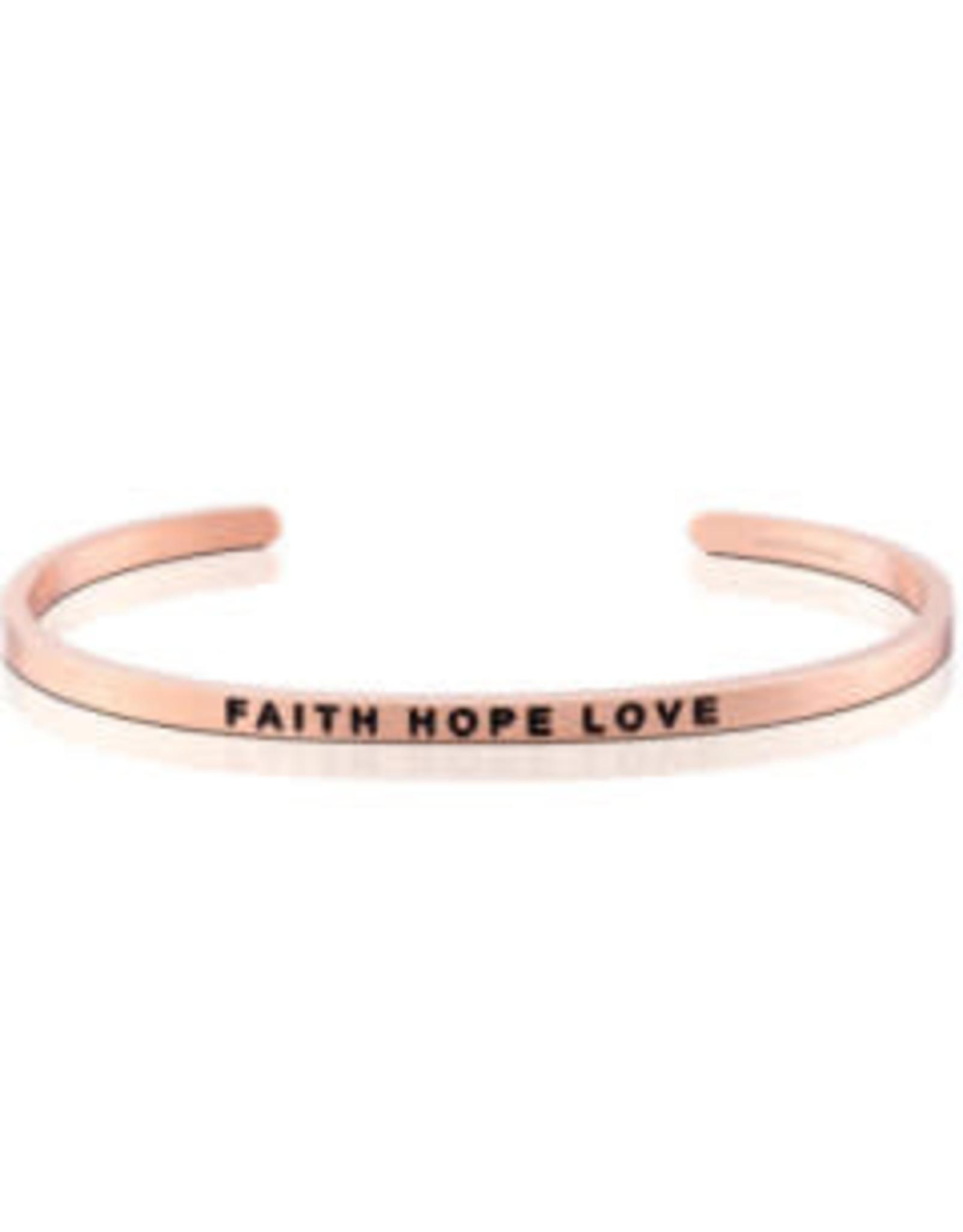 MantraBand MantraBand Bracelet, Faith Hope Love