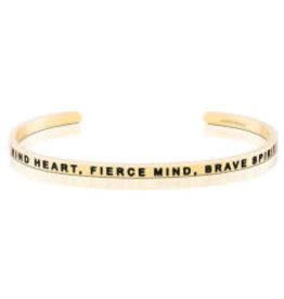 MantraBand MantraBand Bracelet, Kind Heart Fierce Mind Brave Spirit