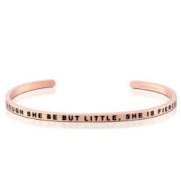 MantraBand MantraBand Bracelet, Though She Be But Little She Is Fierce