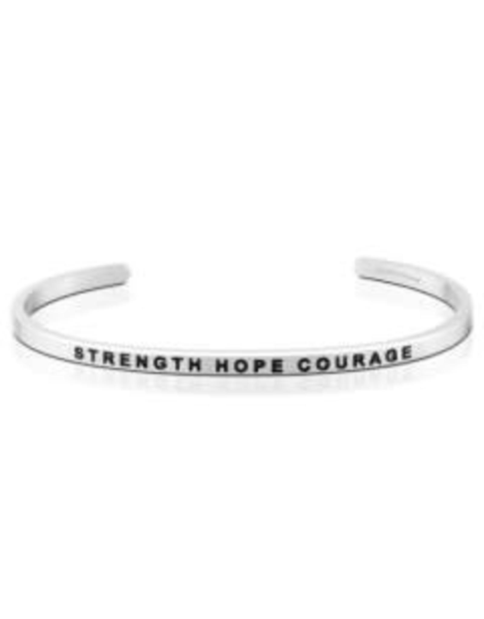 MantraBand MantraBand Bracelet, Strength Hope Courage