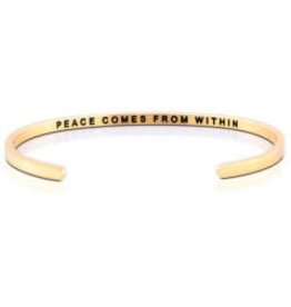 MantraBand MantraBand Bracelet, Peace Comes From Within