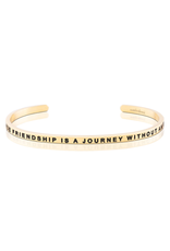 MantraBand MantraBand Bracelet, A True Friendship Is A Journey Without An End