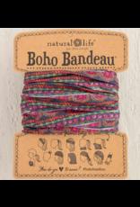 Natural LIfe Boho Bandeau, Multi Scalloped Rows Print