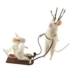 Winter Whimsy Sledding Mice Set