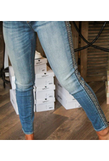Jeans with Aztec Tapestry Side Stripe