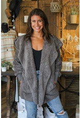 Both Side Fur Open Jacket