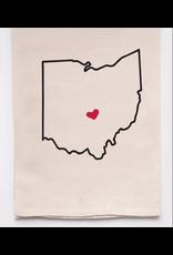 Flour Sack Towel, Ohio