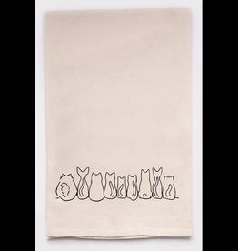 Flour Sack Towel, Cat Butts