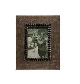 Wood Photo Frame, Natural and Black