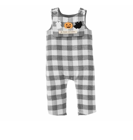Mud Pie Holiday Gingham Longall Bib, 3-6 months