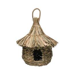 Woven Straw & Rattan Birdhouse