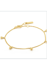 Ania Haie Orbit Drop Balls Bracelet, gold