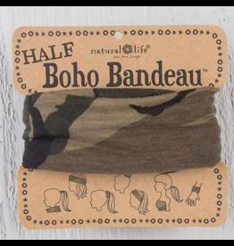 Natural LIfe Half Boho Bandeau, Olive Camo