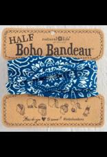 Natural LIfe Half Boho Bandeau, Navy & Cream Mandala
