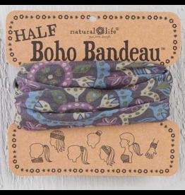 Natural LIfe Half Boho Bandeau, Blue & Cream Mandala