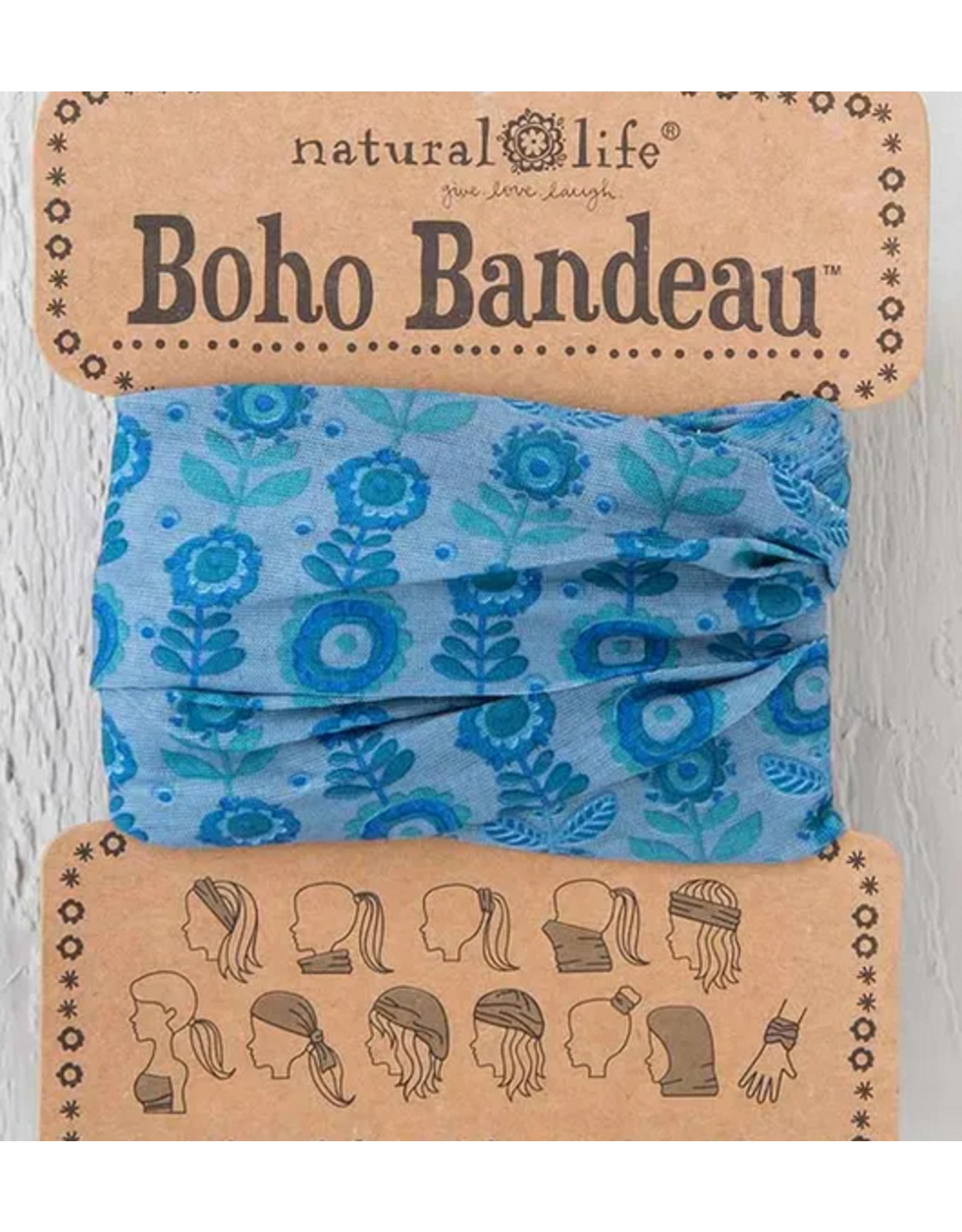 Natural LIfe Boho Bandeau, Blue Grey Daisy