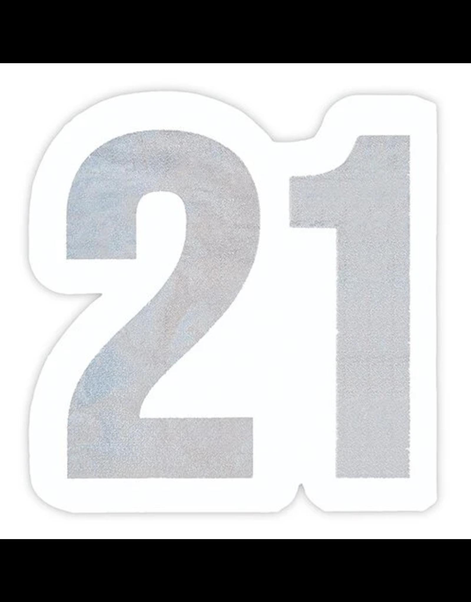 "Large Diecut Napkin ""21"""
