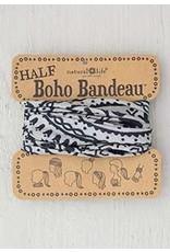 Natural LIfe Half Boho Bandeau, Cream & Black Mandala