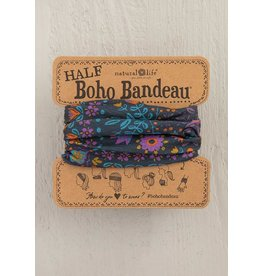 Natural LIfe Half Boho Bandeau, Grey Floral Mandala