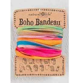 Natural LIfe Boho Bandeau, Hot Pink Rainbow