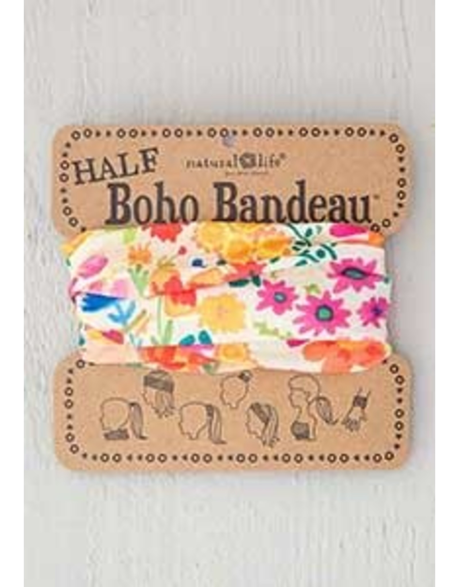 Natural LIfe Boho Bandeau, Cream Wildflower