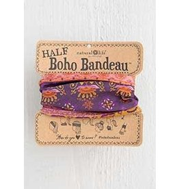 Natural LIfe Boho Bandeau, Purple Rust Flower Mandala