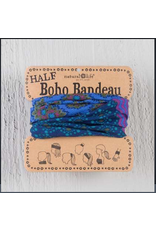 Natural LIfe Half Boho Bandeau, Purple and Blue Stripe