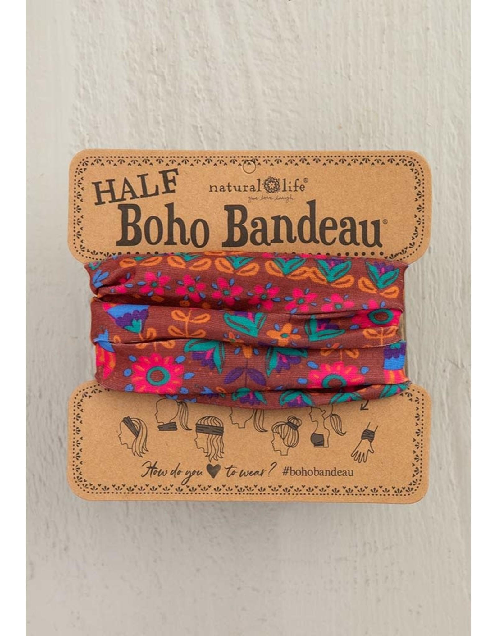 Natural LIfe Half Boho Bandeau, Red Floral Mandala
