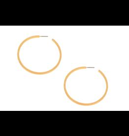 Scratched Hoop Earrings, gold
