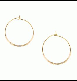 Endless Hoop Earring w/White, gold