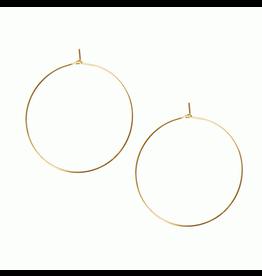 Thin Hoop Earrings, gold