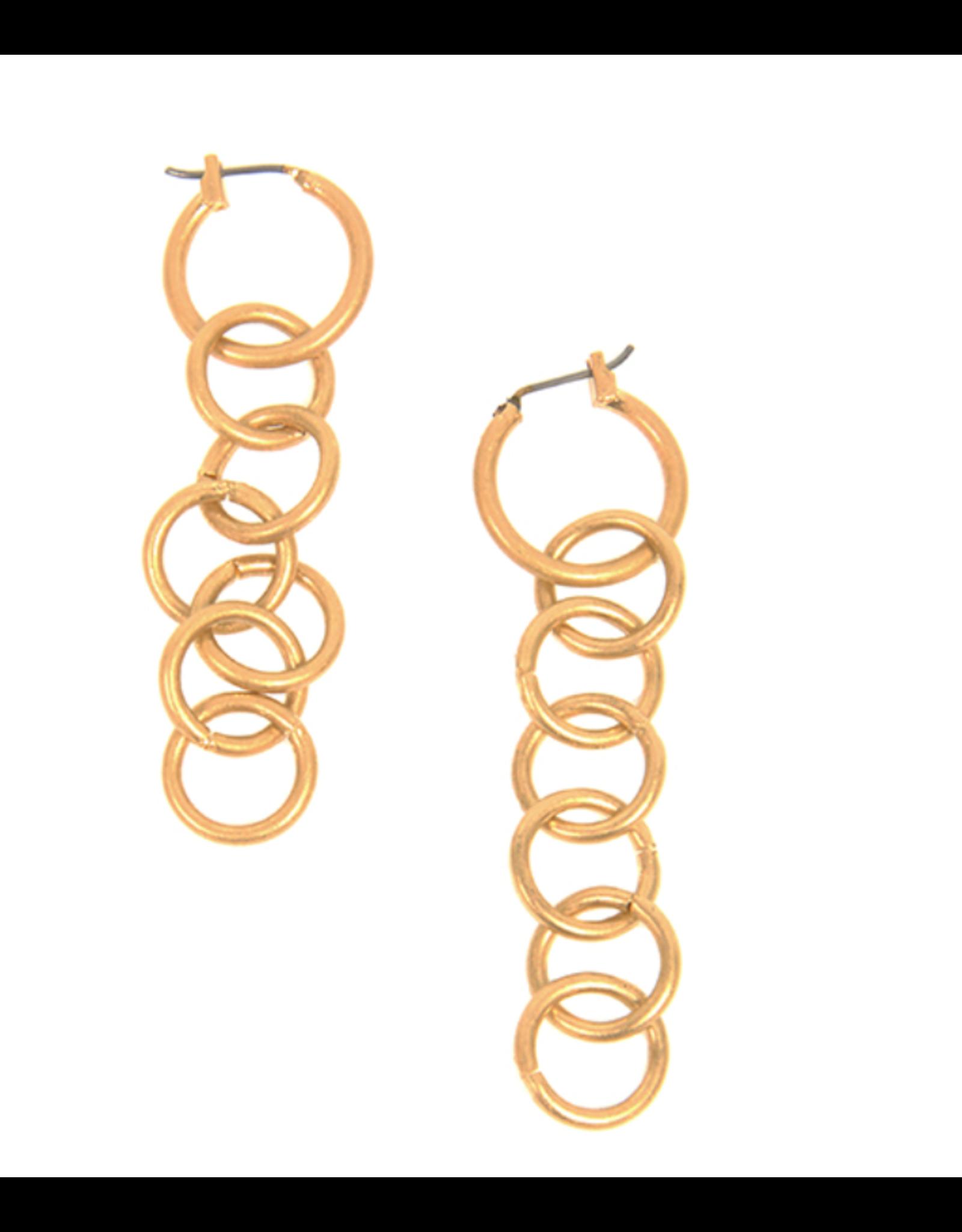 Drop Link Post E/R, gold