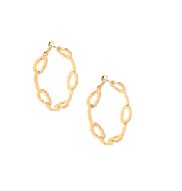 Link Hoop E/R, gold