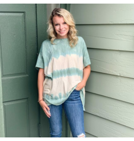 Short Sleeve Wave Washed Top
