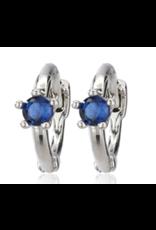 CAI Huggies, Single Stone, Silver Blue