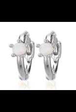 CAI Huggies Single Stone, Silver Opal