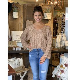 Scoop Neck Multi Tone Sweater