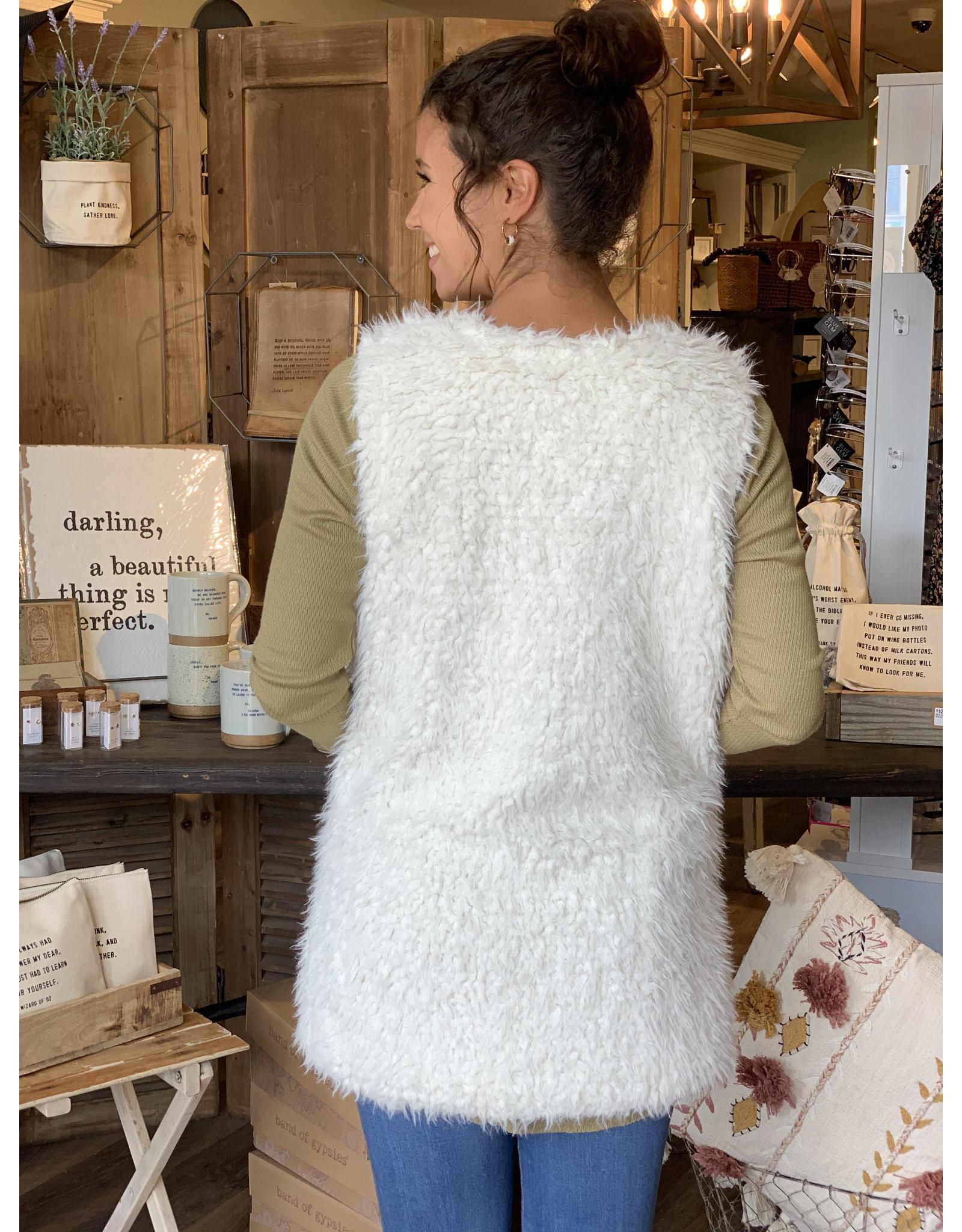 Matted Fur 2-pocket Vest