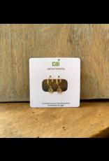 CAI Gold Huggie Earrings, daisy