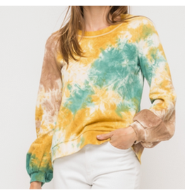 Tiedye Balloon Sleeve French Terry Pullover