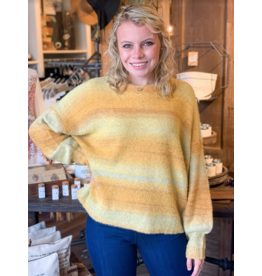 Color Mix Graduation Sweater