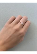 CAI Gold Oval Gemstone Ring, moonstone