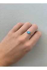 CAI Gold Oval Gemstone Ring, turquoise
