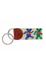 Smathers & Branson S&B Needlepoint Key Fob, Dancing Bears on Oatmeal