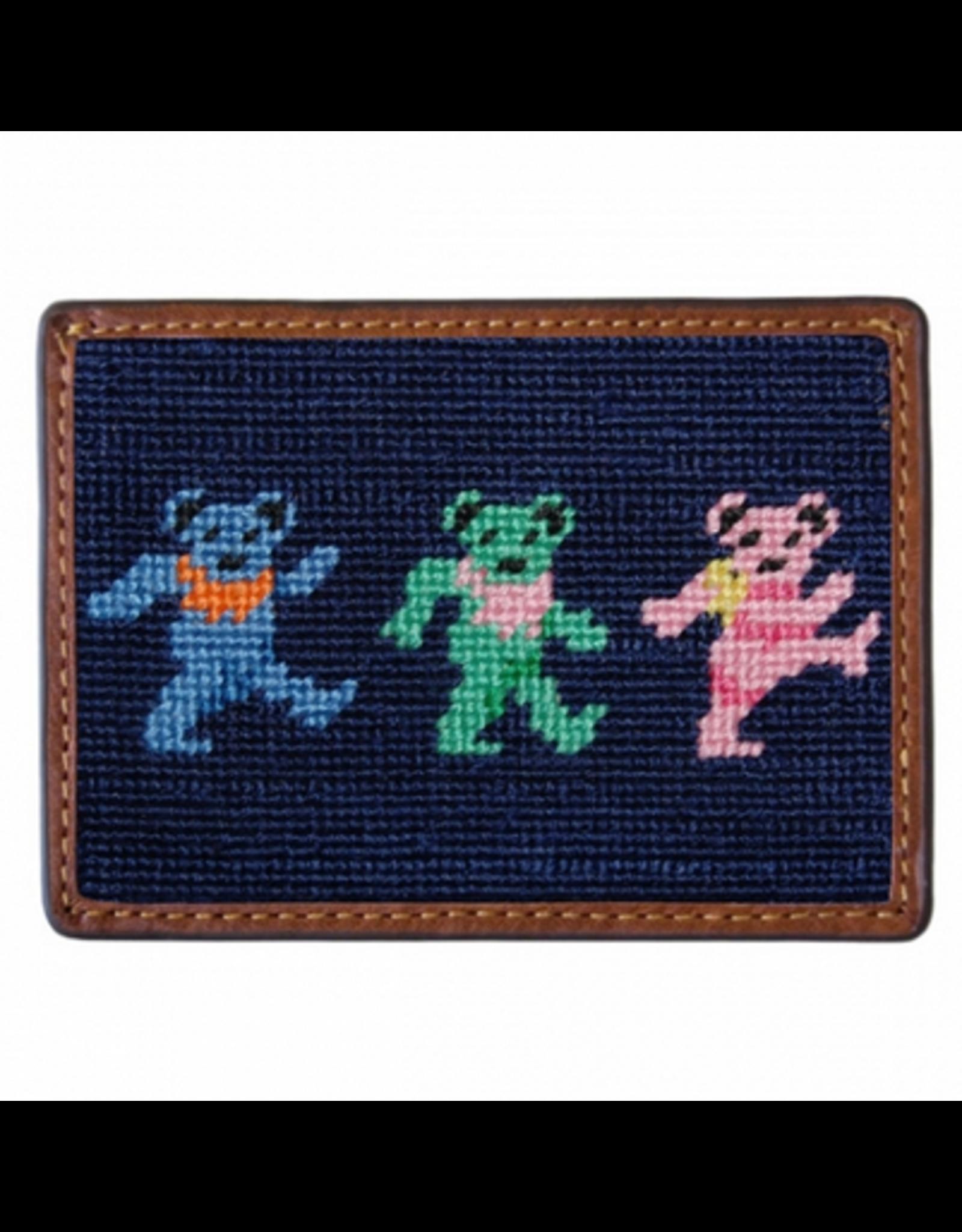 Smathers & Branson S&B Needlepoint Card Wallet, Dancing Bears
