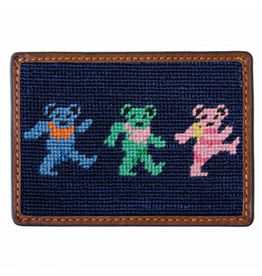 Smathers & Branson S&B Needlepoint Card Wallet, Dancing Bears
