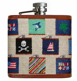 Smathers & Branson S&B Needlepoint Flask, Flasks