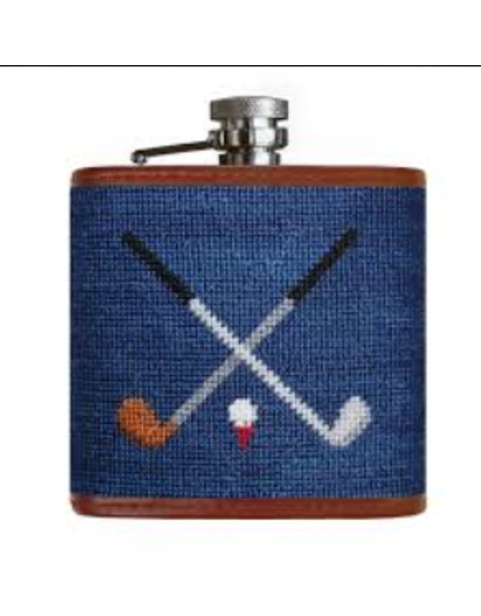 Smathers & Branson S&B Flask, Crossed Clubs