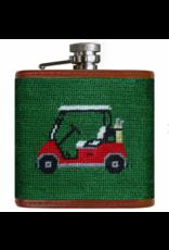 Smathers & Branson S&B Needlepoint Flask, Golf Cart